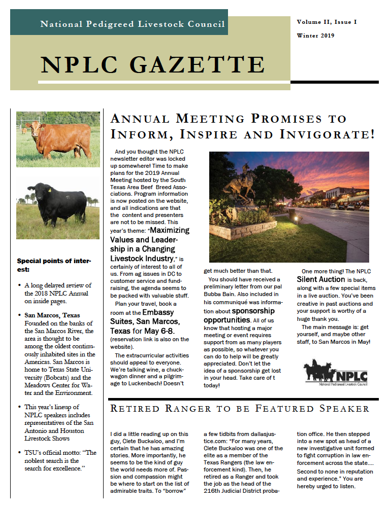 Winter NPLC Newsletter