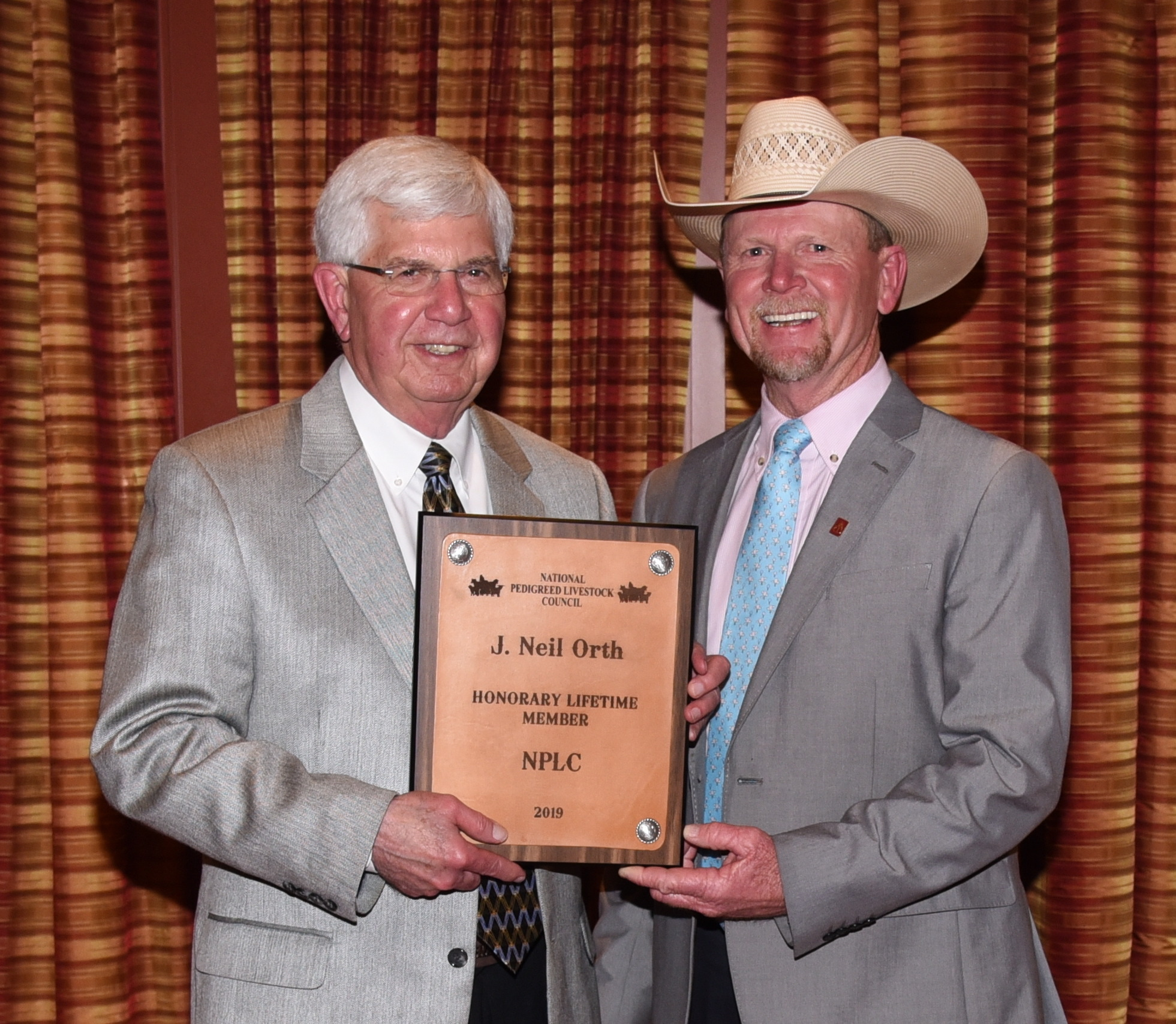 Neil Orth Honored as National Pedigreed Livestock Council 2019 Lifetime Honorary Membership Inductee